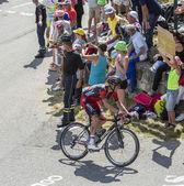 The Cyclist Damiano Caruso on Col du Glandon - Tour de France 20