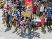 The Cyclist Joaquim Rodriguez on Col du Glandon - Tour de France