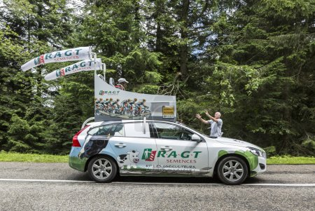 Col de Platzerwasel, France - July 14, 2014: RAGT ...