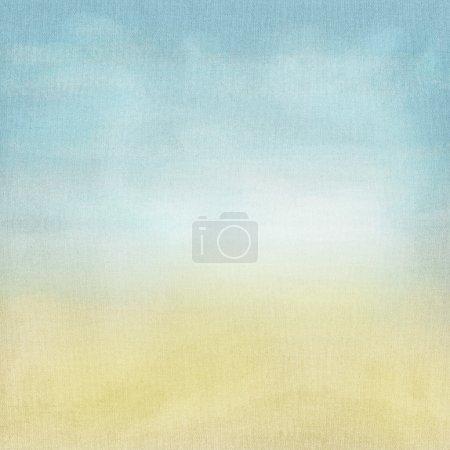 Foto de Antiguo fondo de grunge de papel y textil con delicado lienzo abstracto textura azul cielo vista - Imagen libre de derechos