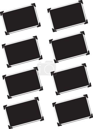 Photo pour Huit cadres de photo blanc, noir et blancs - image libre de droit