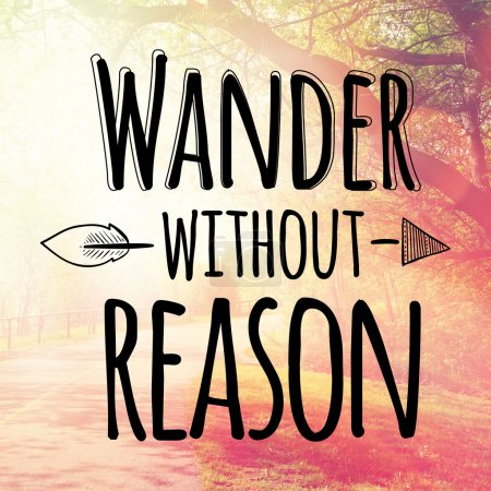 Text  wander without reason