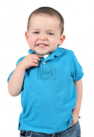 Baby boy posing for camera