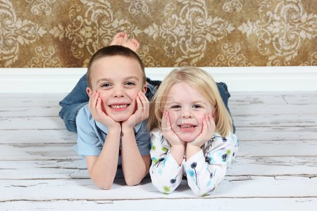 Adorable little brother and Sister