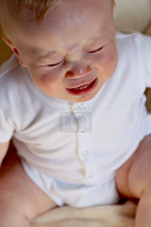 Adorable baby crying