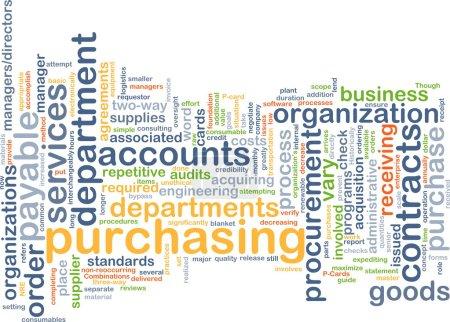 Photo pour Modèle de texte de fond concept wordcloud illustration de l'achat d'approvisionnement - image libre de droit