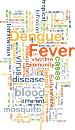 Concept de fond de la dengue
