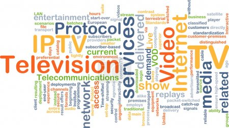 Internet protocol television IPTV background concept