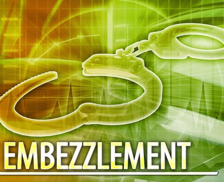 Embezzlement Abstract concept digital illustration