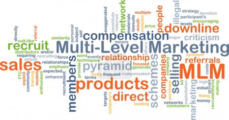 Multi-level marketing MLM background concept