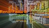 Selhání ledvin pozadí koncepce zářící