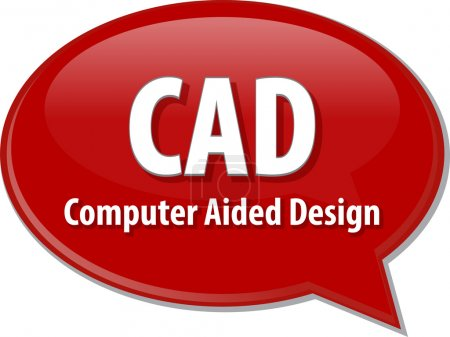 CAD acronym definition speech bubble illustration