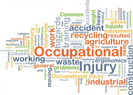 Occupational injury background concept