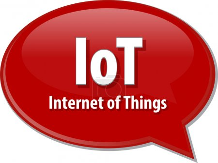 IoT acronym definition speech bubble illustration