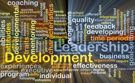 Leadership development background concept glowing