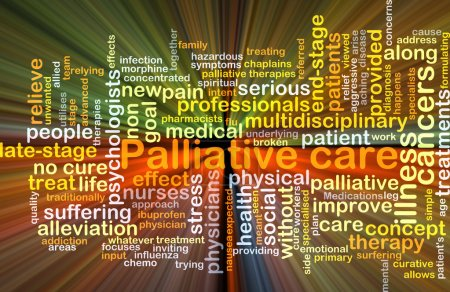 Palliative care background concept glowing