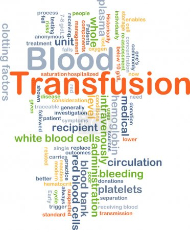 Blood transfusion background concept