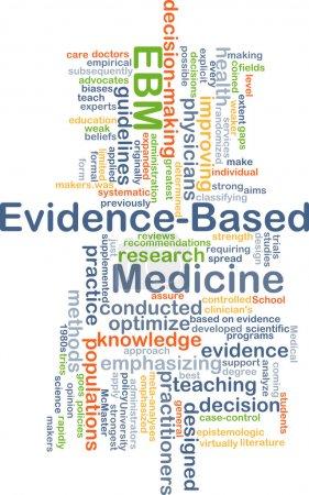 Evidence-based medicine EBM background concept