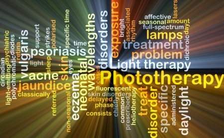 Phototherapy background concept glowing