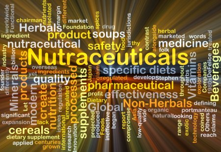 Nutraceuticals background concept glowing