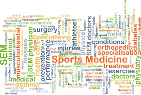 Sports medicine background concept