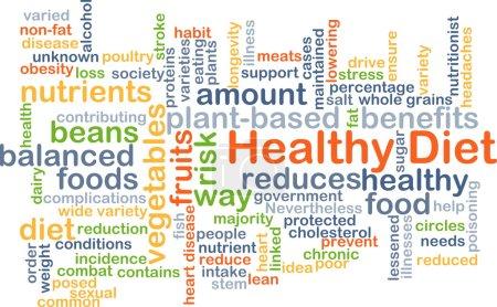 Healthy diet background concept