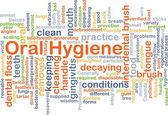 Ústní hygiena pozadí koncepce