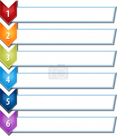 Six blank business diagram chevron list illustration