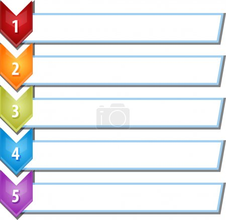 Five blank business diagram chevron list illustration