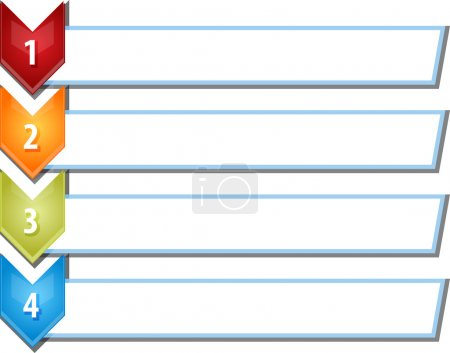 Four blank business diagram chevron list illustration