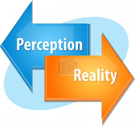 Perception Reality business diagram illustration