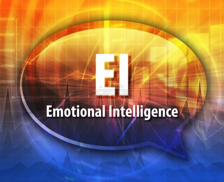 Photo for Word speech bubble illustration of business acronym term EI emotional intelligence - Royalty Free Image