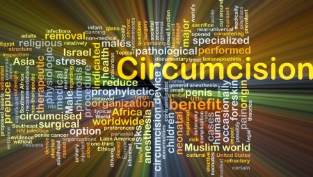Circumcision background concept glowing