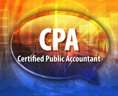CPA acronym word speech bubble illustration