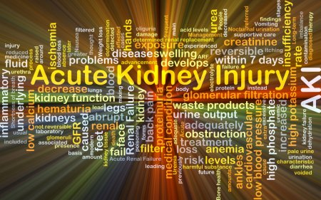 Acute kidney injury AKI background concept glowing