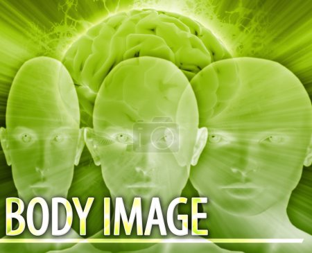 Photo for Abstract background digital collage concept illustration Body image disorder - Royalty Free Image