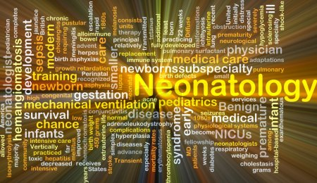 Neonatology background concept glowing