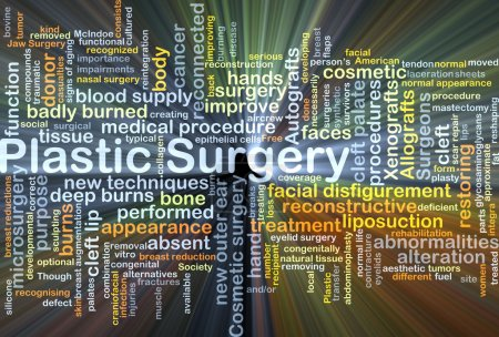 Plastic surgery background concept glowing