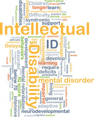 Intellectual disability ID background concept