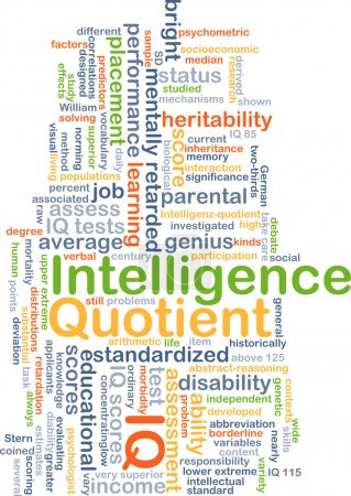 Intelligence quotient IQ background concept