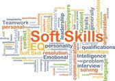 Soft skills background concept
