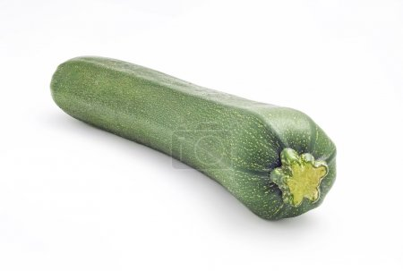 green zucchini isolated