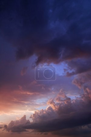 Photo for Dark sky dramatic sunset clouds - Royalty Free Image