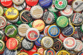 Beer bottle caps background