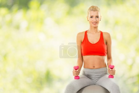 Fitness Woman Outdoor Exercising