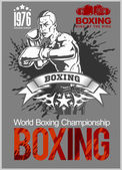 Boxing Club Logo Emblem Label Badge T-Shirt Design