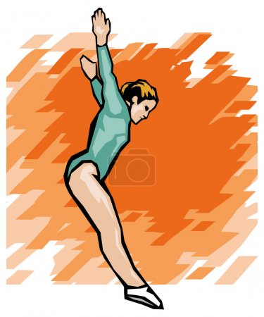 Gymnast woman. Gymnastic - vector illustration...