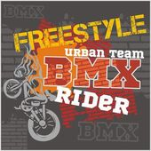 BMX rider - urban team Vector design