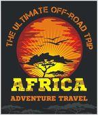 Cestovní Afrika - extrémní terénní Vektor znak