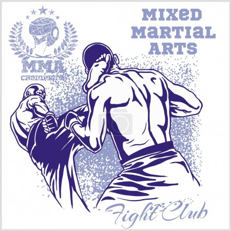 Match two fighters of martial mixed arts.